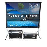 Kimex - Ecran de projection valise 5,08 x 3,81m, format 4:3, Toile Avant + Toile Arrière