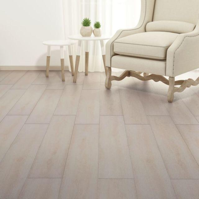 Icaverne - Tapis et revêtements de sol categorie Planche de plancher PVC 5,26 m² Couleur de chêne blanc