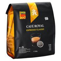 CafÉ Royal - Dosettes souples de café Espresso - Sachet de 36