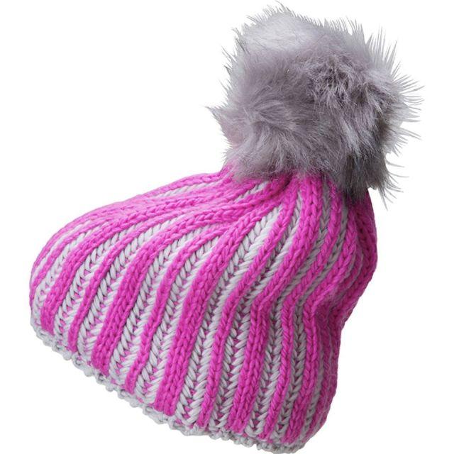 Myrtle Beach - Bonnet chaud et confortable en tricot avec pompon - Mb7107 -  rose et 1c5aec72dce