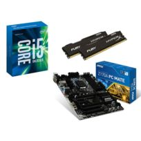 RUE DU COMMERCE - Kit EVO INTEL OC I - INTEL Core i5-6600K - MSI Z170A PC MATE - 16 Go DDR4 KINGSTON