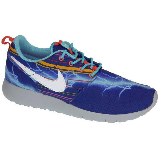 los angeles 419fc e264f Nike - Rosherun Print Gs 677782-401 Bleu - pas cher Achat / Vente Baskets  enfant - RueDuCommerce