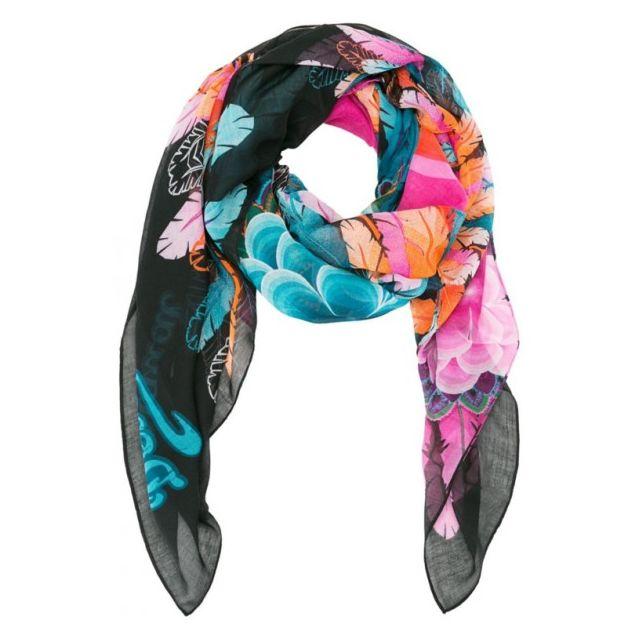 09e6f2223669 Desigual - Foulard Rectangle Far West Multicolore 61W54B8   2000 - pas cher  Achat   Vente Echarpes, foulards - RueDuCommerce