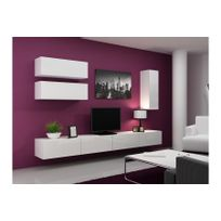 meuble tv suspendu achat meuble tv suspendu pas cher rue du commerce. Black Bedroom Furniture Sets. Home Design Ideas
