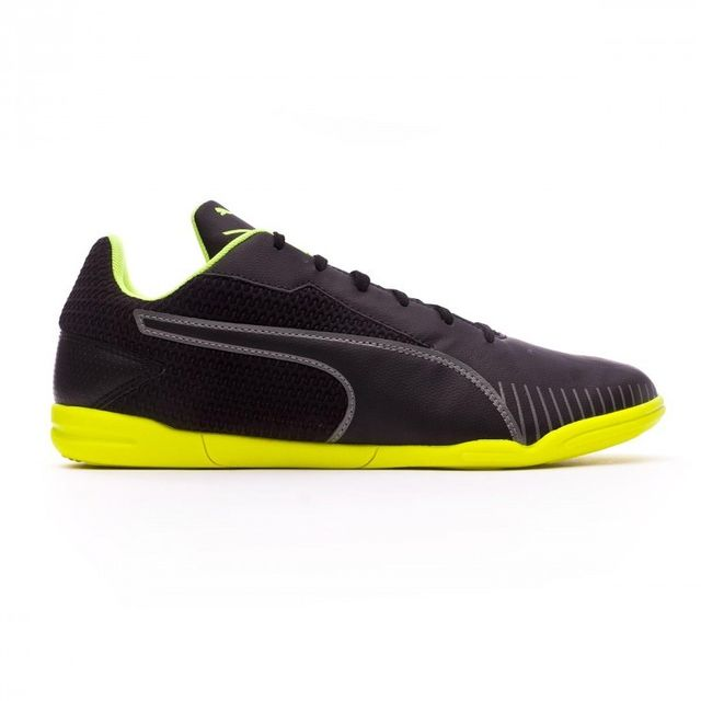 Puma Chaussure de foot en salle 365 Ct black Safety yellow