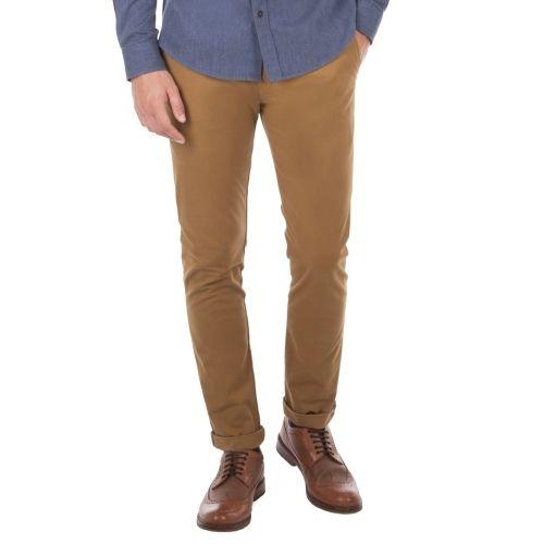 Chino Pas Cher Skinny Achat Coupe Pantalon Sherman Camel Ben EHvqB67W