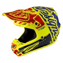 Troy Lee Designs - Casque Se4 Factory Jaune Fluo Jaune