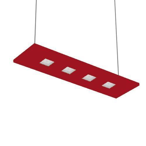 Nowleds Laris - Suspension Led 4 lumières Rouge lumière chaude L70cm - Suspension designé par