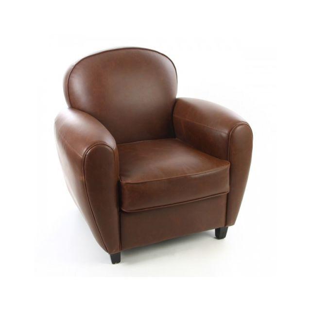 Jja fauteuil club simili cuir