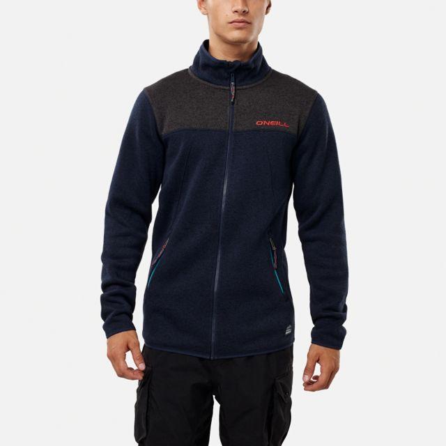 923ae30948d14 O NEILL - Polaire Pm Piste Full Zip Fleece Ink Blue Bleu Marine - pas cher  Achat   Vente Gilets, polaires - RueDuCommerce