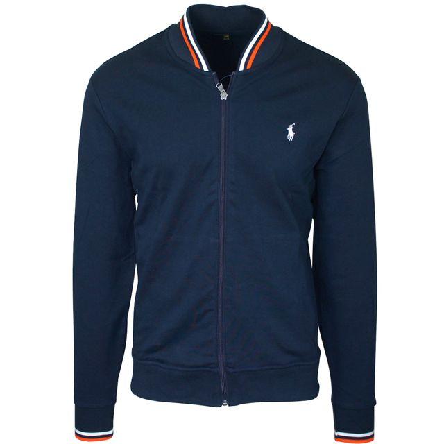 2c8d38618d3311 Ralph Lauren - Veste sport bleu marine - pas cher Achat   Vente Veste homme  - RueDuCommerce