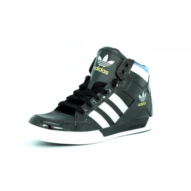 Adidas originals hard court hi noir bleu blanc homme