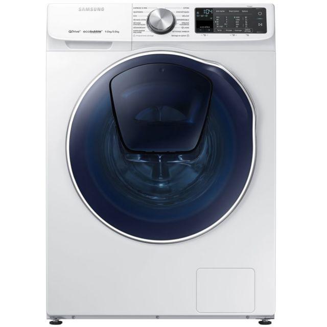 Samsung lave-linge séchant 60cm 9/5kg 1400t a blanc - wd90n645oom