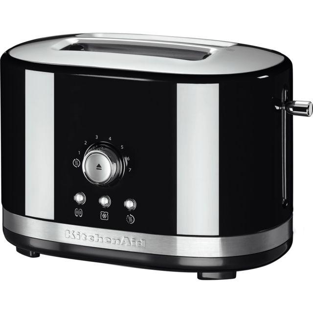 Kitchenaid Grille pain avec 2 fentes 1200W noir onyx argent