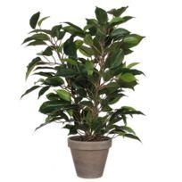 Mica - Ficus artificiel en pot H.40xD.30cm vert et marron Elliot