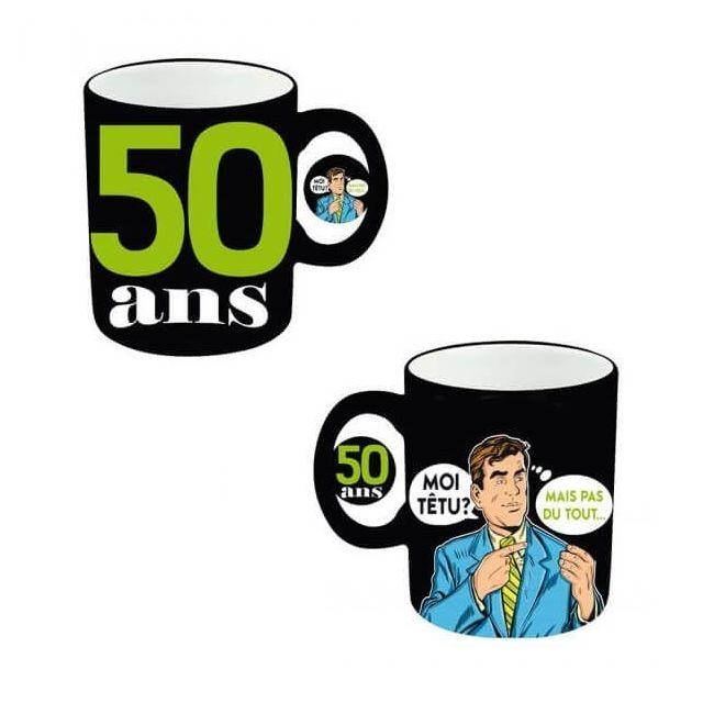 Cadeau Mug Anniversaire Homme 50ans X1 Refmugah05