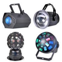 Kool light - Pack 4 jeux de lumière à Led, 4 effets différents