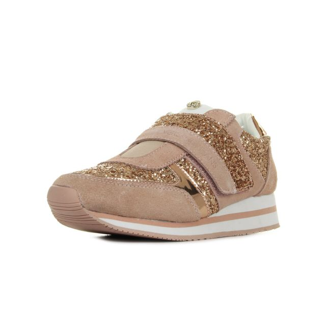 Versace - Linea Fondo Stella Dis4 Suede Glitter Rose, Blanc - pas cher Achat    Vente Baskets femme - RueDuCommerce 678ced8762b
