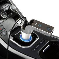 TBS - TBS3162 Transmetteur de musique vers autoradio en FM via bluetooth du téléphone ou carte SD ou clé USB - & Chargeur Port USB 2,5A & Kit main-libre