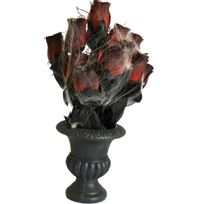 Aptafetes - Décoration Vase avec Roses et Toile d'Araignée