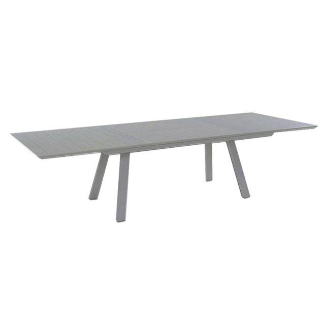 Gecko Jardin Table extensible en alu gris 200/300 x 110 cm Ofanto