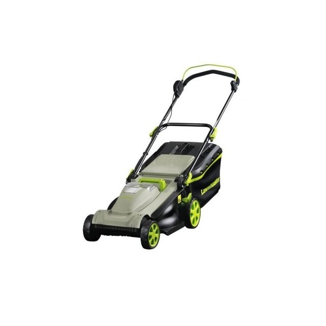 lawnmaster tondeuse a batterie 37 cm 36 volts avec. Black Bedroom Furniture Sets. Home Design Ideas