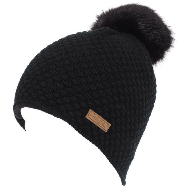 1ece50b406b54 Alpes Vertigo - Bonnet à pompon Balto noir bonnet Noir 43389 - pas cher  Achat / Vente Casquettes, bonnets, chapeaux - RueDuCommerce
