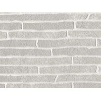 Graham And Brown - Papier peint vinyle expansé intissé motif brique gris 10.05x0.52m Briquette