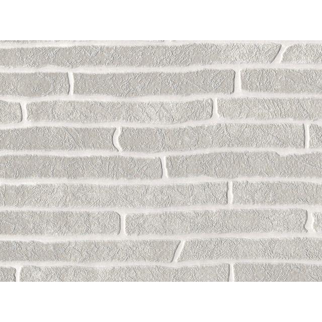 Graham Papier Peint Vinyle Expanse Intisse Brique Gris Briquette