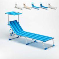 Beach And Garden Design - Lit de plage pliant bain de soleil trans