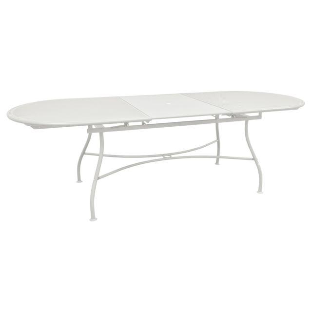 Oasi by Emu - Table de jardin ovale extensible Acier 180/240x90cm ...