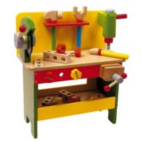Equilibre et aventure - Bel établi complet tout en bois pour enfants avec accessoires