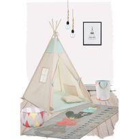 Nattiot - Tapis Totem décoration chambre enfant garçon par - Couleur - Gris, Taille - 80 / 170 cm
