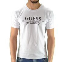 Guess - T Shirt Manches Courtes - Homme - Ucpm29 - Blanc