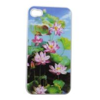 Coquediscount - Hologramme nenuphars roses coque arriere iphone 4