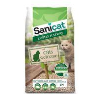 Sanicat - Litiere Living nature Outdoor 30L - Pour chat