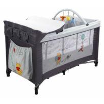 DISNEY BABY - Lit parapluie bébé POOH FLOATY DAYS - 60 x 120 cm - Gris