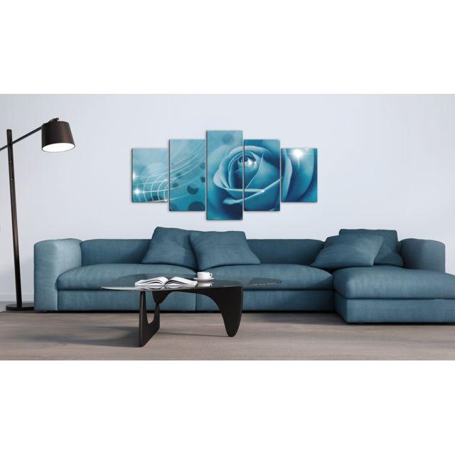 100x50 Tableau Joli Beauté bleue