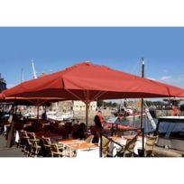 Abritez-vous Chez Nous - Parasol aluminium carré 5x5m Maxisoco Rouge