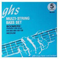 Ghs - 5MDYB - Jeu de 5 cordes Medium guitare basse B130-E105-A85-D65-G45