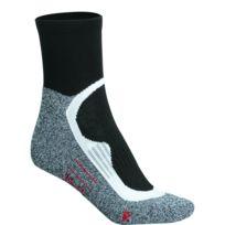 James & Nicholson - Chaussettes courtes de sport - homme femme - Jn210 - noir et gris