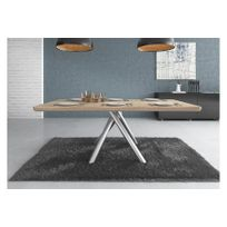 Chloe Design - Table à manger design Slane - bois clair