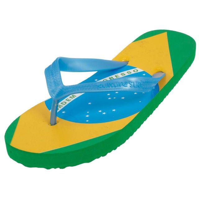 Culture Sud - Tongs claquettes Salvador bresil brasil Jaune 79731 - pas  cher Achat   Vente Sandales et tongs homme - RueDuCommerce bf07ee52eb0a