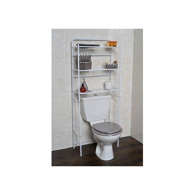 tendance le depot bailleul meuble wc m tal 3 tablettes pour toilettes pas cher achat. Black Bedroom Furniture Sets. Home Design Ideas