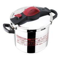 SITRAM - Autocuiseur Sitrapro - Inox et rouge - 10 L