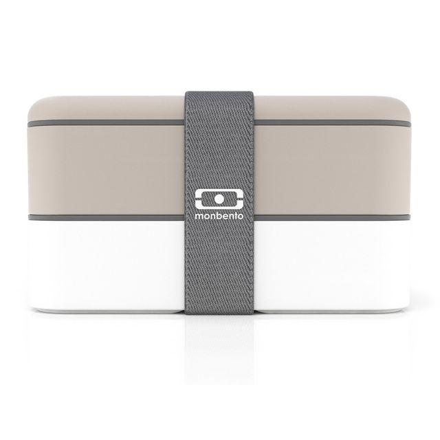Monbento Boîte bento 2 compartiments hermétiques 1L Mb Original - Gris/blanc
