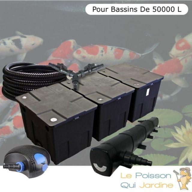 Le Poisson Qui Jardine Kit Filtration Complet, 72W, Pour Bassins De Jardin De 50000 Litres