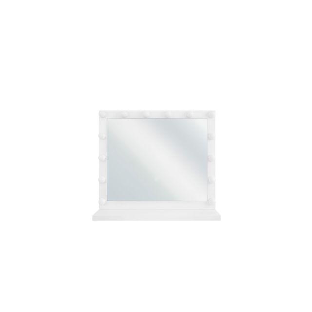 BELIANI Miroir mural blanc 50 x 60 cm avec LED BEAUVOIR - blanc