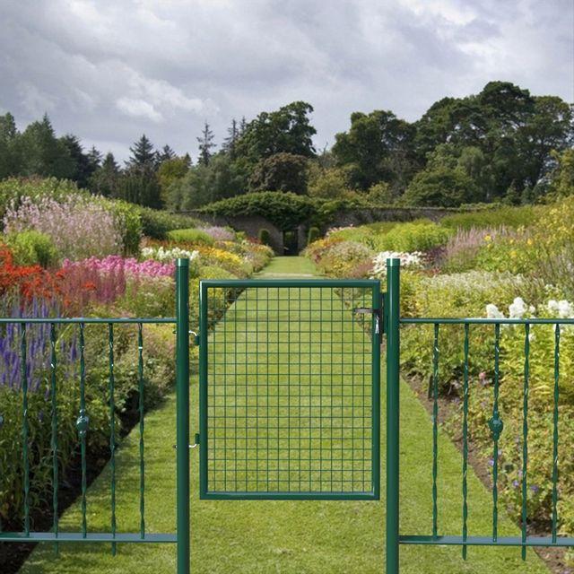 Rocambolesk - Superbe Portillon de de jardin avec serrure vert neuf ...