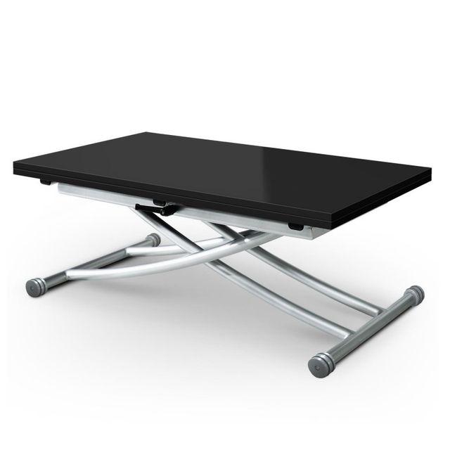 Paris Prix Table Basse Relevable Higher 57 114cm Noir Laque